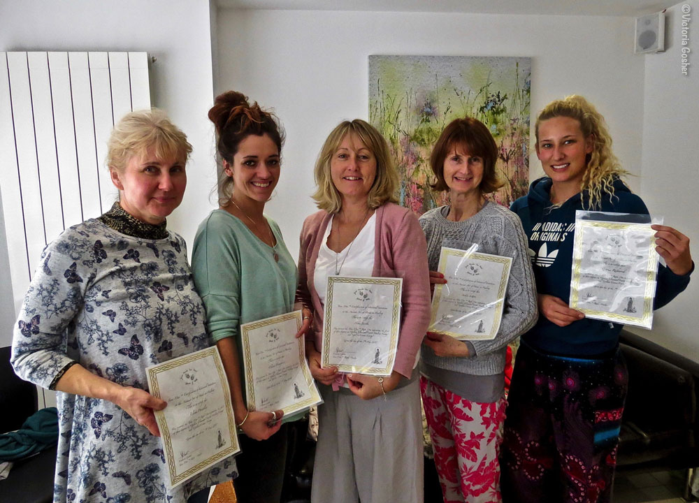 image of five ladies with reiki certificates